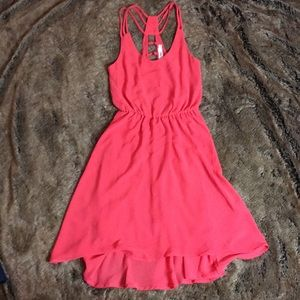 Lush brand size xs coral strappy dress. NWOT